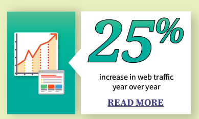 25% increase in web traffic year over year