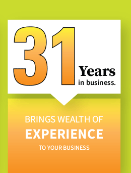 31 years in business